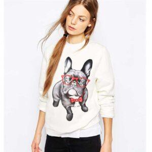 Nerdy Bulldog Sweater