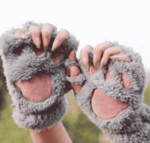 Fluffy Paw Gloves