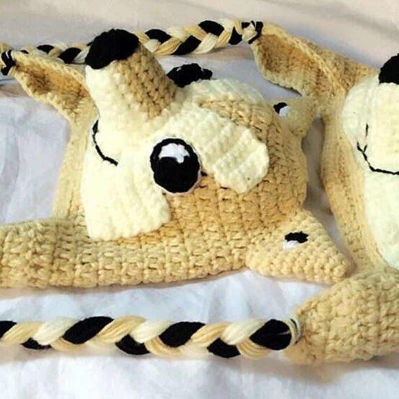 Doge Crochet Hat