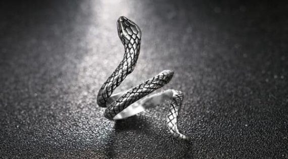 Silver Serpent Ring