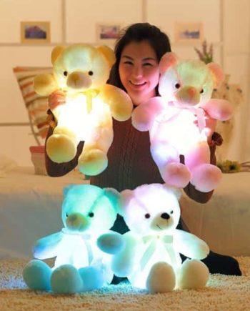 Colorful Glowing Teddy Bear