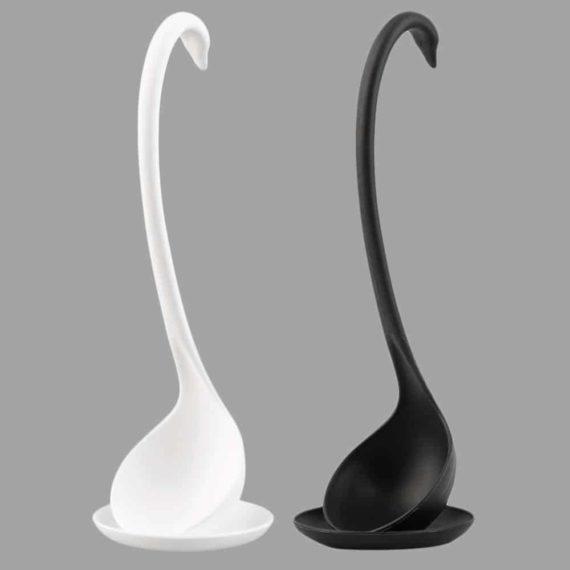 Black & White Swan Spoons