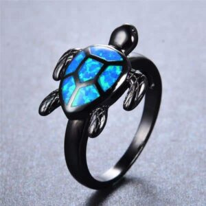 Blue Turtle Ring