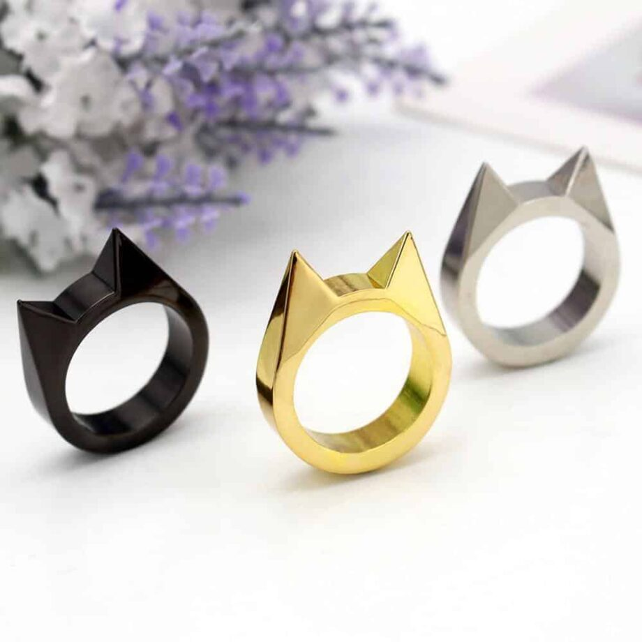 Punk Kitty Rings - Set of 3