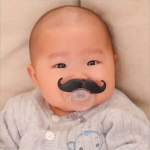 Mustache Pacifier - Set of 3