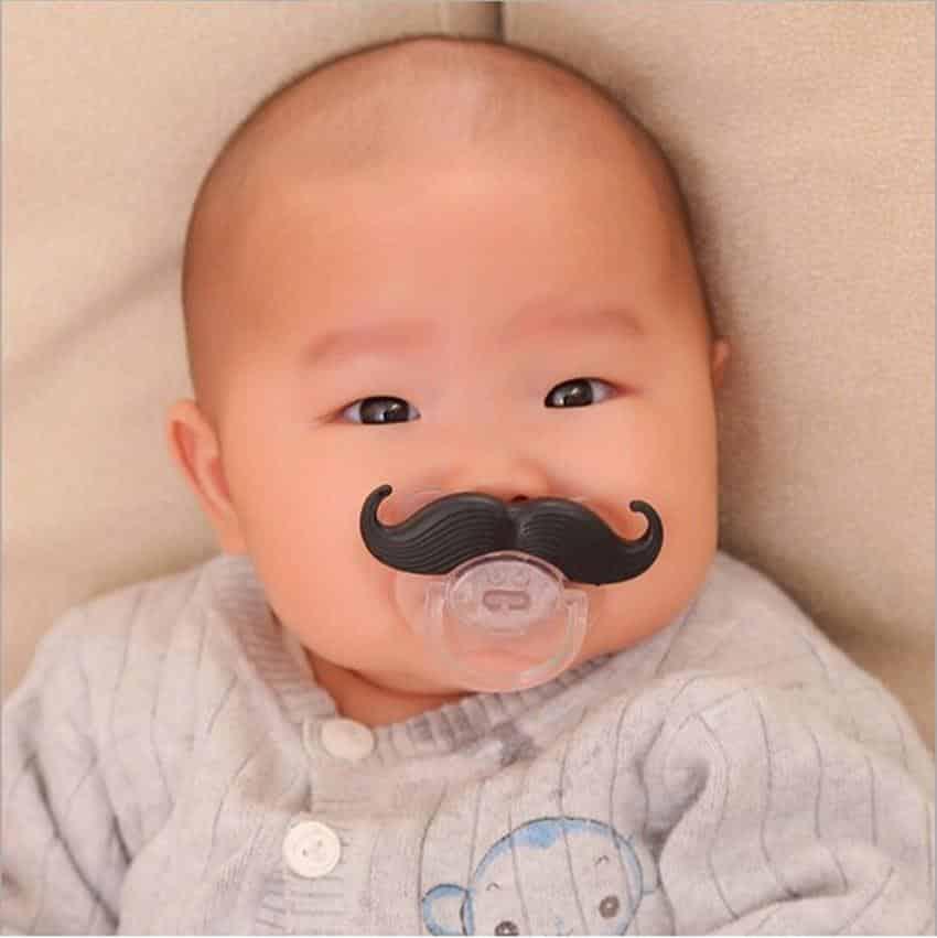 Mustache Pacifier - Set of 3