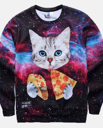 Pizza Cat Sweater