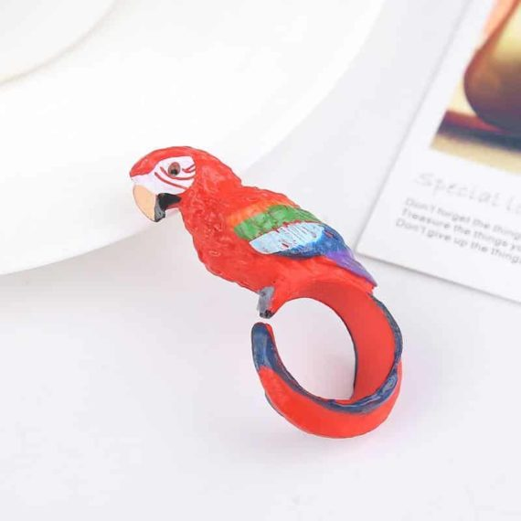 Colorful Parrot Ring