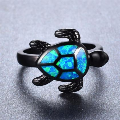 Blue Turtle Ring 2