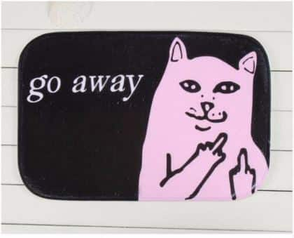 Middle Finger Cat Rug 2