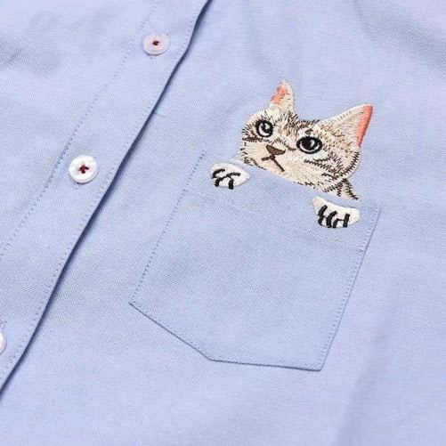 Kitty Embroidered Shirt 4