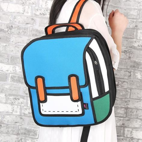 2D Cartoon Backpack 1