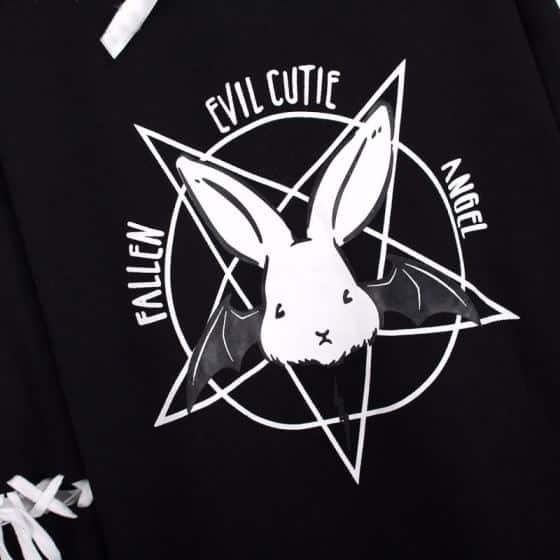 Evil Bunny Hoodie 5