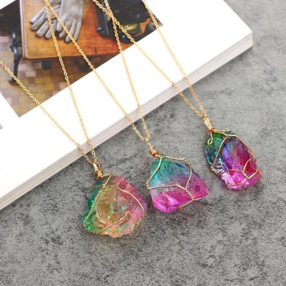 Rainbow Natural Stone Pendant 2