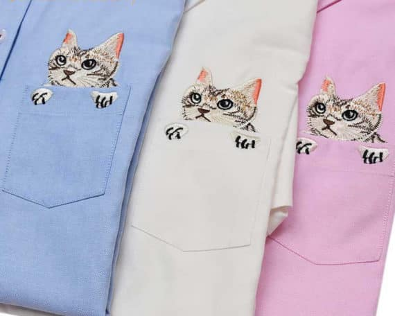 Kitty Embroidered Shirt