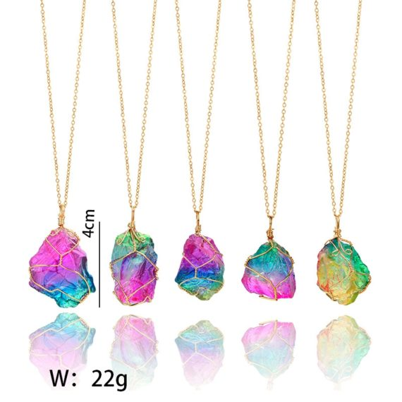 Rainbow Natural Stone Pendant