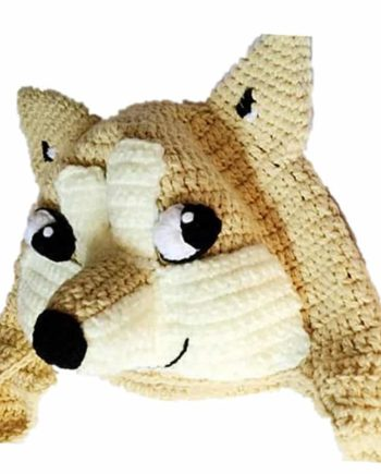 Doge Crochet Hat