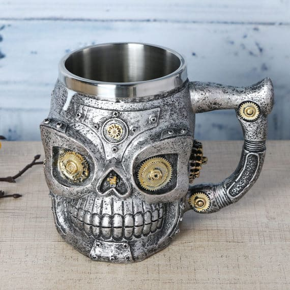 Mechanical Skull Mug