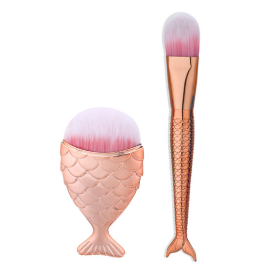 Fishtail Makeup Brushes