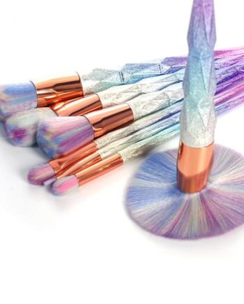 Colorful Glitter Makeup Brushes