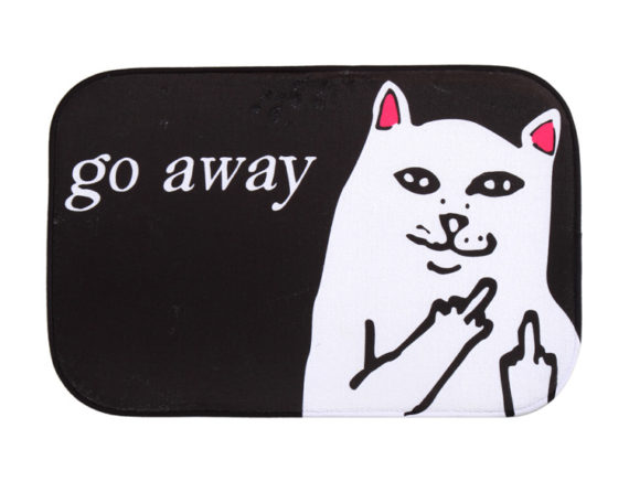 Middle Finger Cat Rug