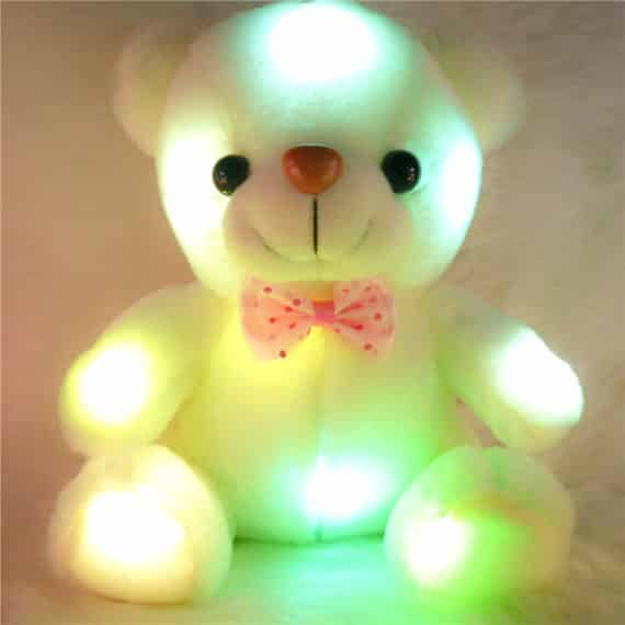 Colorful Glowing Teddy Bear