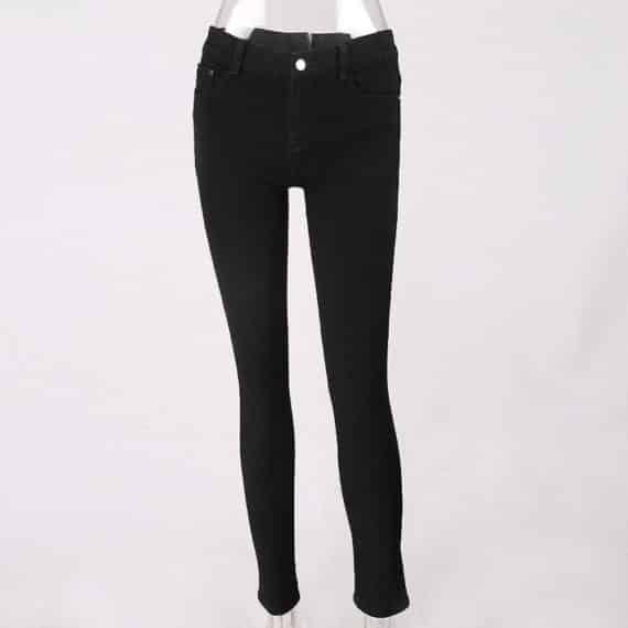 Back Zip Jeans