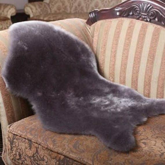 Warm Cozy Hairy Sheepskin Floor Mats