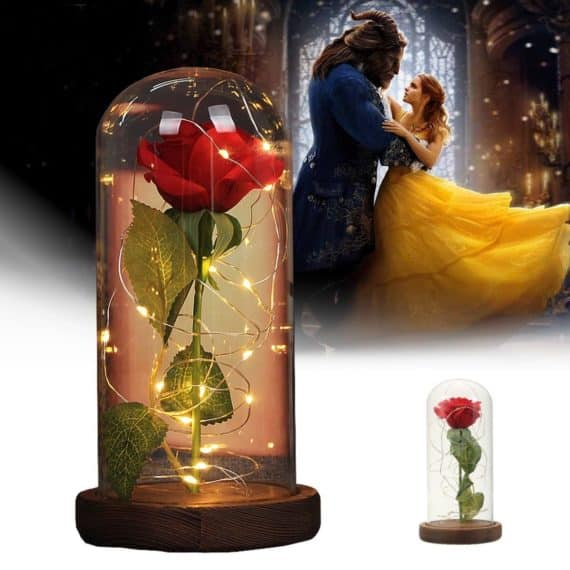 Romantic Magic Rose LED Desk Lamp
