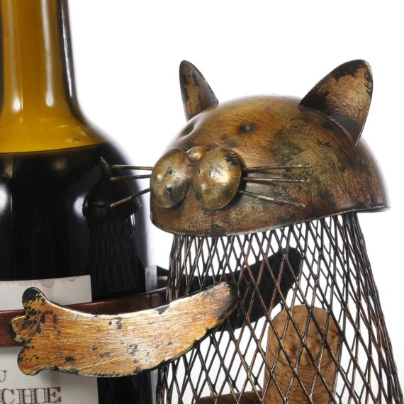 Tooarts Cat Wine Rack Cork Container