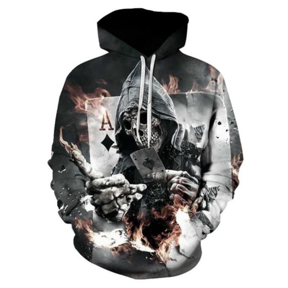 Skull Poker Hoodies Sweatshirts