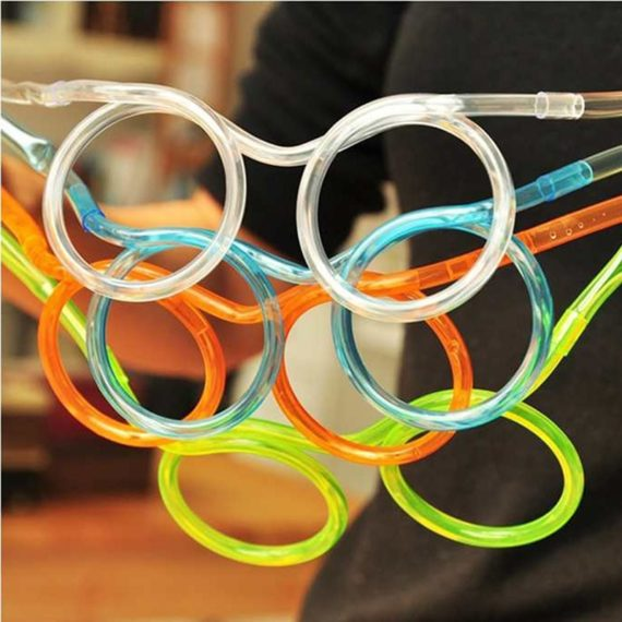 Funny Soft Plastic Straw Glasses