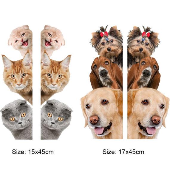 3D Funny Animals Wall Sticker
