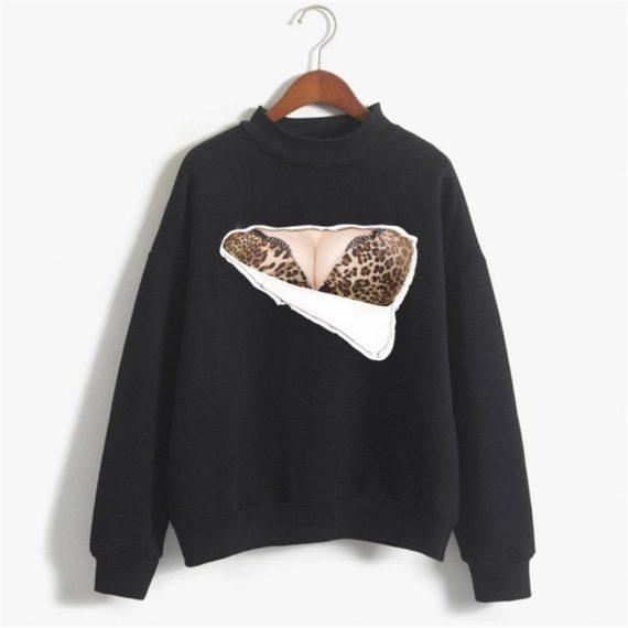Big Boobs Sexy Leopard bra print hoodies
