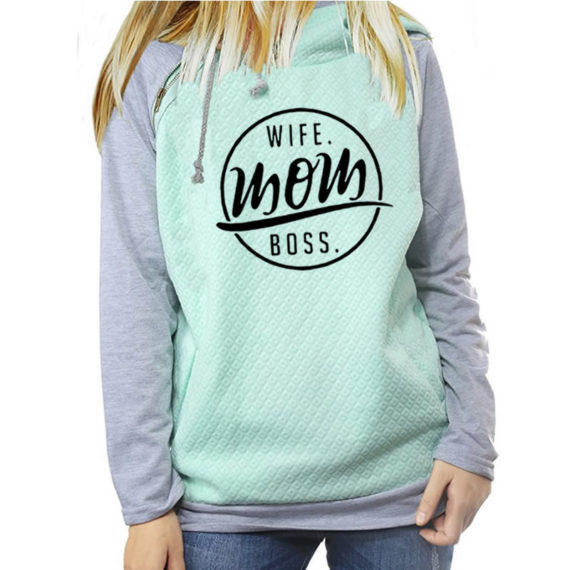 Fashion Funny Letters Print Hoodies