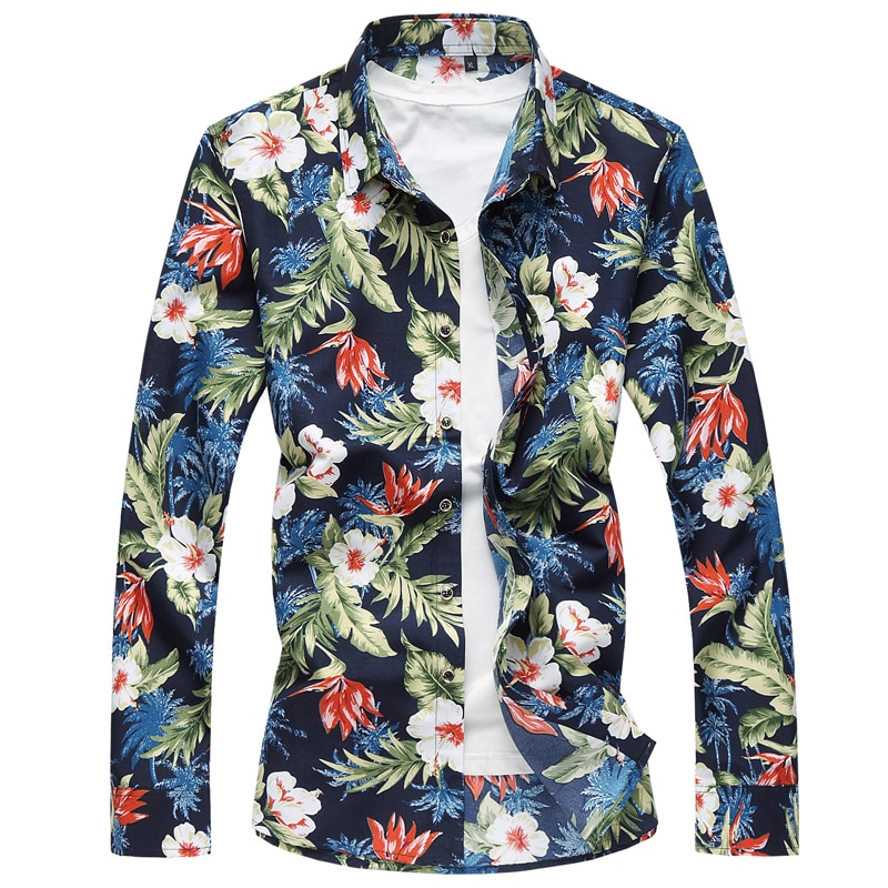 1656880d45d Autumn Casual Long Sleeve Floral Hawaiian Shirt - Catchy Store