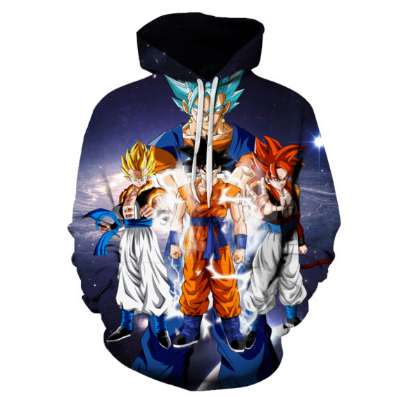 Dragon Ball Z Pocket Hooded Sweatshirts
