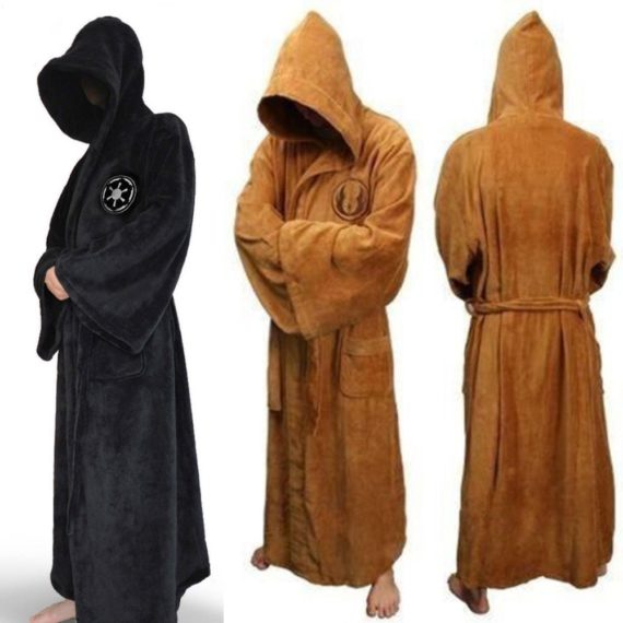 Fetoo Flannel Hooded Thick Star Wars Dressing Robe