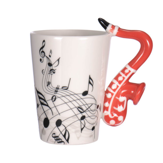Fashion Guitar Ceramic Cup
