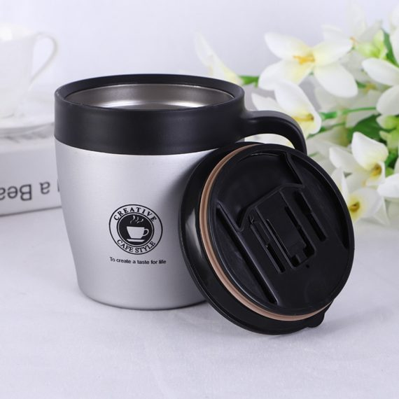 Travel Coffee Creative Mug with Stainless Steel Lid