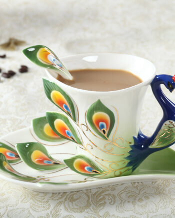 Peacock Coffee Ceramic Mugs