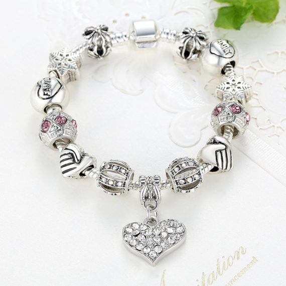 Crystal Charm Bracelet- Various Designs