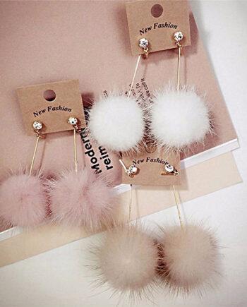 Cute Fur Ball Earrings