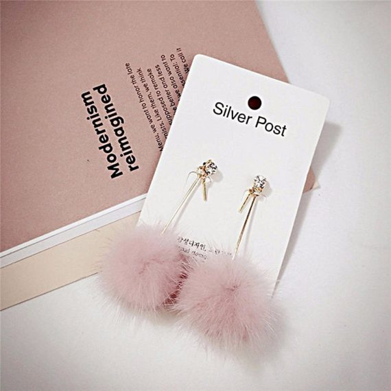 Cute Fur Ball Earrings