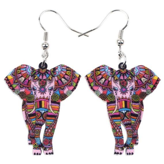 Acrylic Elephant Shape Drop Dangle