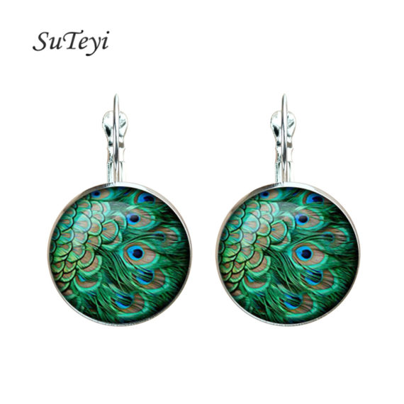 Peacock Feather Fashion Earrings