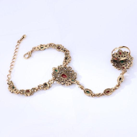 Unique Bracelet Link Ring