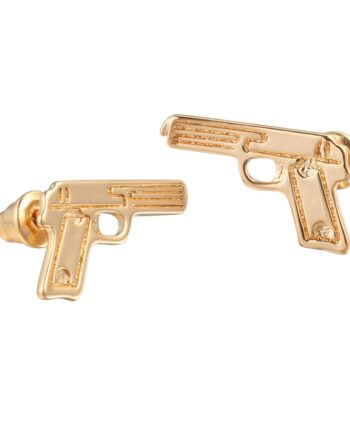 Pistol Shape Stud Earrings